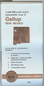 Usgs Topographic Map Gallup New Mexico 1981 100k