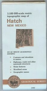 Usgs Topographic Map Hatch New Mexico 1982 100k