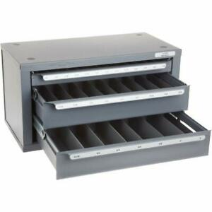 Huot 13350 Three drawer End Mill Dispenser Cabinet For Fractional Sizes 1 8 To