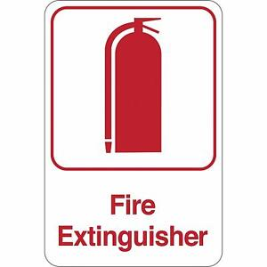 Fire Extinguisher 9 X 6 Facility Sign