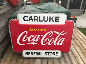 Coca Cola Coke candy store hanging light 1950's
