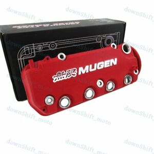 Mugen Racing Rocker Engine Valve Cover Red For Honda Civic D16y8 D16y7 Vtec Sohc