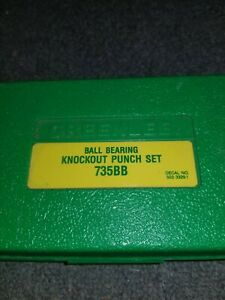 Greenlee Ball Bearing Knockout Punch Set 735bb 1 2 3 4 1 1 1 4 Conduit