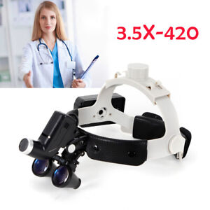 Portable Medical Surgical Headlight With Loupes 3 5x420 For Dentistry Surgery Us