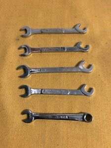 Snap on Tools Ignition Wrench Ds2224 Ds2018 Snap on Oxi 8 Combo Lot Of 5