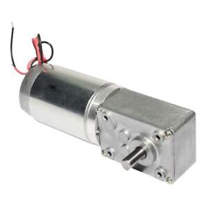 Dc High Torque Worm Reducer Geared Motor electric Motor With Reduction Gearbox
