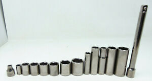 Craftsman Socket Lot Of 13 1 Extension Used Vg Cond W Free Shipping