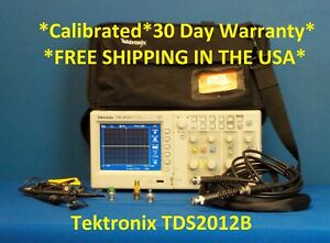 Tektronix Tds2012b 2ch 1gs s 100 Mhz Color Dso