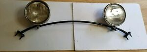 1930 31 Ford Model A Head Lights With Bar Ford Script Lenses Nice Original
