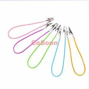 5pcs Dental Colourful Bib Clips Silicone Instrument Cord Napkin Holder Mix Color
