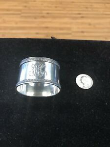 Antique Russian Silver Napkin Ring Marked 84mono