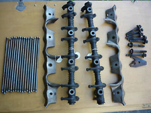 Ford Fe Oem Used Rocker Arm Assemblies With Oil Splash Drip Rails And Pushrods