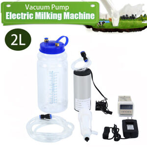 Electric Barrel Milking Machine Portable Vacuum Pump For Goat Milker Tank