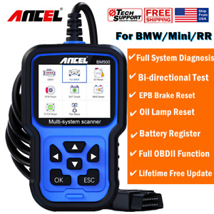 Ancel Bm500 For Bmw mini Obd2 Code Reader Full System Scanner Diagnostic Tool