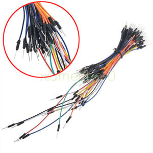 65pcs New Male To Male Solderless Flexible Breadboard Jumper Cable Wires