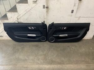 2018 2019 Ford Mustang Gt V6 Ecoboost Lh Rh Leather Door Panels Pair Oem