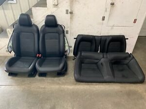 2018 2019 Ford Mustang Gt Black Leather Front Rear Seats Power Oem