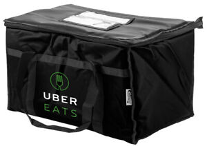 Uber Eats 23x14x15 Food Delivery Bag Foam Padded Interior