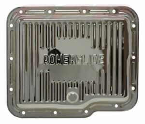 Chrome Steel Stock Capacity Transmission Pan For Chevy Gm Powerglide