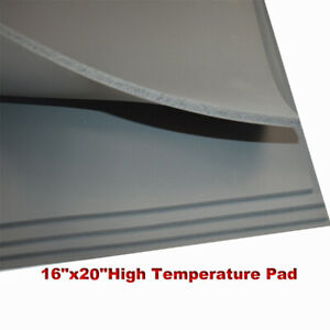 Heat Press Replacement High Temperature Pad 16 x20 Gray 0 31 Silicone Pad