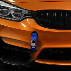 Asimo Race High Strength Blue Tow Towing Strap Hook For Front Or Rear Bumper Jdm
