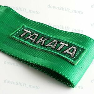 Universal Jdm Racing Sports Green Tow Towing Strap Hook Loop High Strength