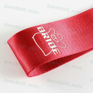 Jdm Bride High Strength Red Race Tow Towing Strap Front Rear Bumper For Car New