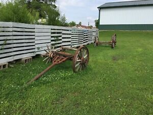 Must Sell Antique Wagon Running Gears Farm Primitive Shelbyville Illinois