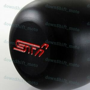 Black Jdm Style Manual Sti Racing Shift Knob For Subaru Wrx Sti Legacy Impreza