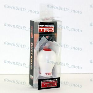 White Trd Duracon Gear Shift Knob For Toyota 4runner Yaris Camry Celica Corolla