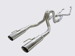 Obx Catback Exhaust Fits For 1999 To 2004 Ford Mustang Gt Mach 1 Bullitt 4 6l