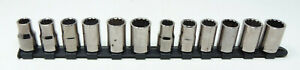 Craftsman Socket Lot Of G2 Sockets 12 In Total 1 2 Drive Lightly Worn Cond
