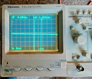 Tektronix Tas220 Analog Oscilloscope Works Has Power Cord Clean Condition