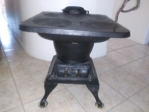 Antique Pot Belly Stove Cast Iron 48 Local Pickup