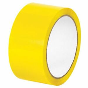 2 X 110 Yards Yellow Color Packing Packaging Sealing Tape 36 case