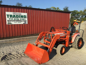 1999 Kubota B2400 4x4 Diesel Hydro Compact Tractor W Loader Only 1200hrs