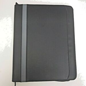 Leather Portfolio Notebook Organizer Planner 13 X 11 In Plan Ahead Faux Leather