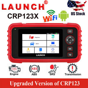 Launch X431 Crp123x Obd2 Scanner Diagnostic Service Tool Four Systems As Nt650