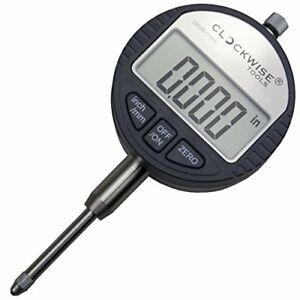 Clockwise Tools Digr 0105 Electronic Digital Dial Indicator Gage Gauge Inch m