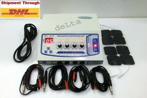 4 Ch Electrotherapy Physical Therapy Machine With Self Adhesive Pads Therapeutic
