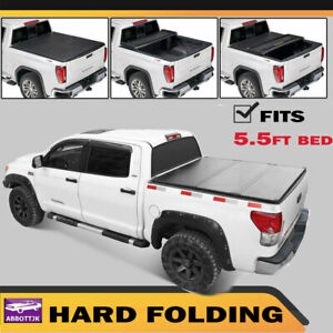 Fit 2014 2019 Ford F150 5 5ft New Frp Body Truck Bed Hard Tri Fold Tonneau Cover