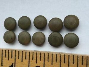 10 Sage Green Pressed Tagua Nut Vegetable Ivory Buttons