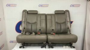 04 Gmc Yukon Denali Third Row Rear Seat Set Gray Leahter