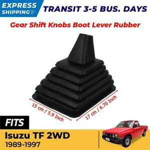 Gear Shift Knobs Boot Lever Rubber Dust Cover Fit For 1989 1997 Isuzu Tfr 2wd Ex