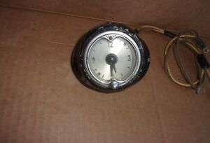 Top Dash Jaeger Na 516 C6 Clock Vintage Dashboard Accessory Rat Rod Nash