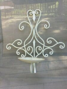 Wrought Iron Sconce Wall Mount Candle Holder Unsure If Fleur De Lis Hinged