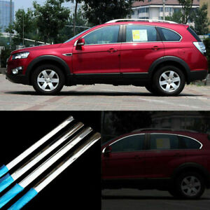 8pcs Stainless Steel Door Window Frame Sill Molding Trim For Chevrolet Captiva