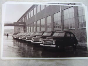 1947 Volvo P444 Car Line Up At Factory 11 X 17 Photo Picture