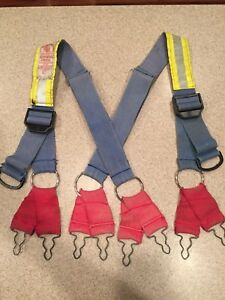 Morning Pride Honeywell Firefighter Suspenders Blue Reflective Turnout Gear