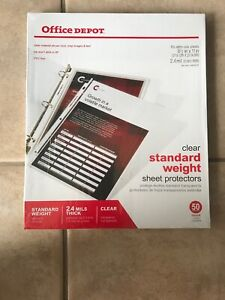 Office Depot Standard Weight Clear Sheet Protectors 8 5 X 11 Box Of 500 2 4 M